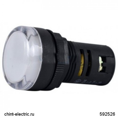 Индикатор ND16-22DS/4 белый АС 400В (CHINT)