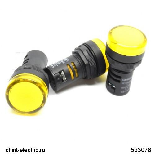 Індикатор ND16-22DS/4 жовтий АС230В (CHINT)