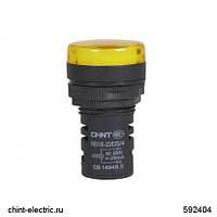 Индикатор ND16-22DS/4 оранжевый АС230В (CHINT)