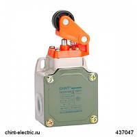 Выключатель путевой YBLX-P1/100/1E прямого действия с одинарным роликом с буфером (CHINT)