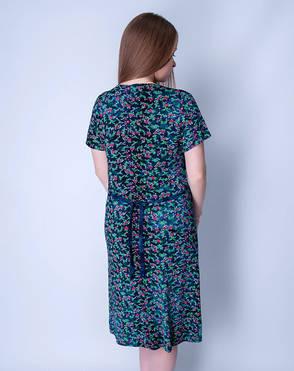Летний халат женский увеличенного размера на молнии Wild Love, фото 2