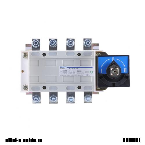 Рубильник перекидний NH40-160/3CS, 3Р, 160А, 3 положення I-0-II, стандартна рукоятка управління (CHINT)