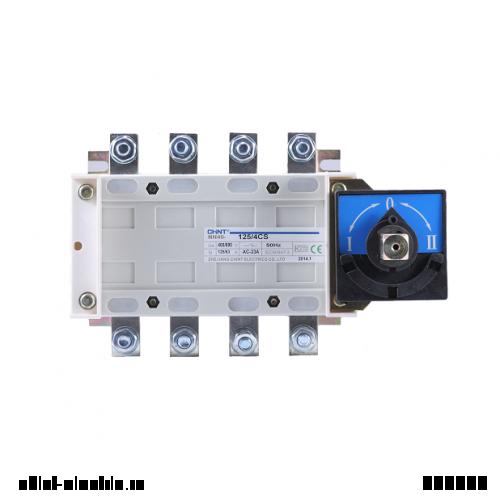 Перекидной рубильник NH40-400/3CS, 3Р, 400А, 3 положения I-0-II, стандартная рукоятка управления (CHINT)