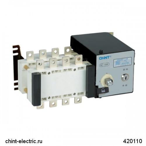 Реверсивный рубильник с блоком АВР с приоритетом первого ввода для дизель-генератора NH40-400/3SZ III, 4P, 400A (CHINT)