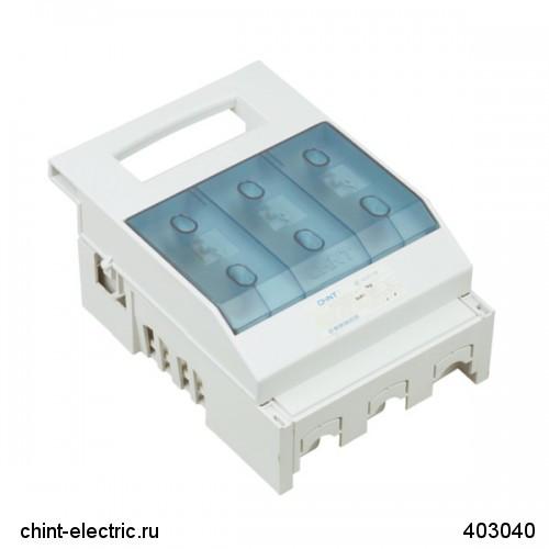 Откидной выключатель-разъединитель NHR17, 3P, 40А, без вспомогательных контактов (CHINT)