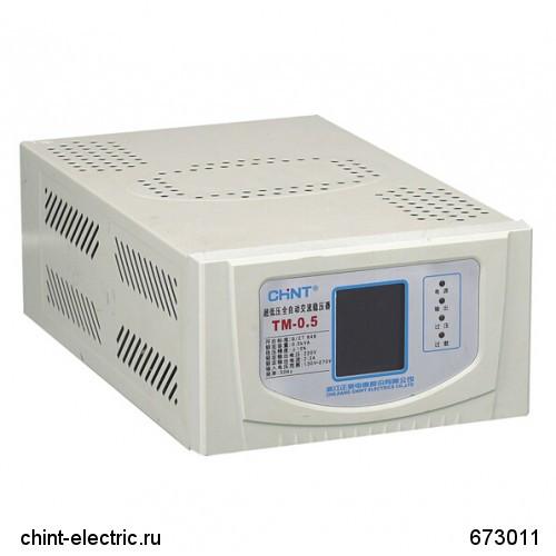 Автоматический ступенчатый регулятор напряжения TM-1.5 . 1,5 кВА (CHINT)
