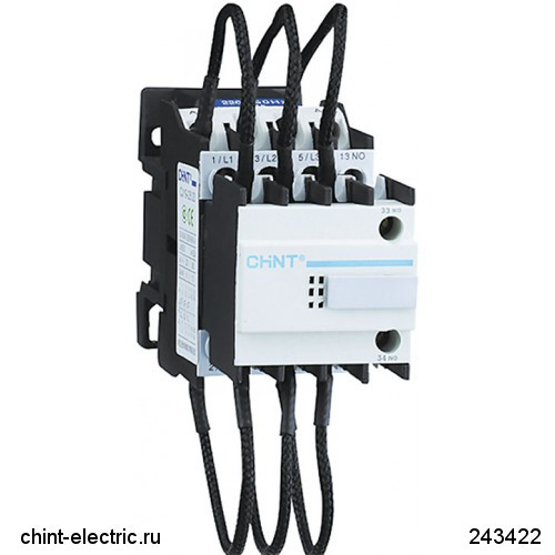 Контактор для компенсації реактивної потужності CJ19-9512, 50кВАр, 1НО+2НЗ, 230В (CHINT)