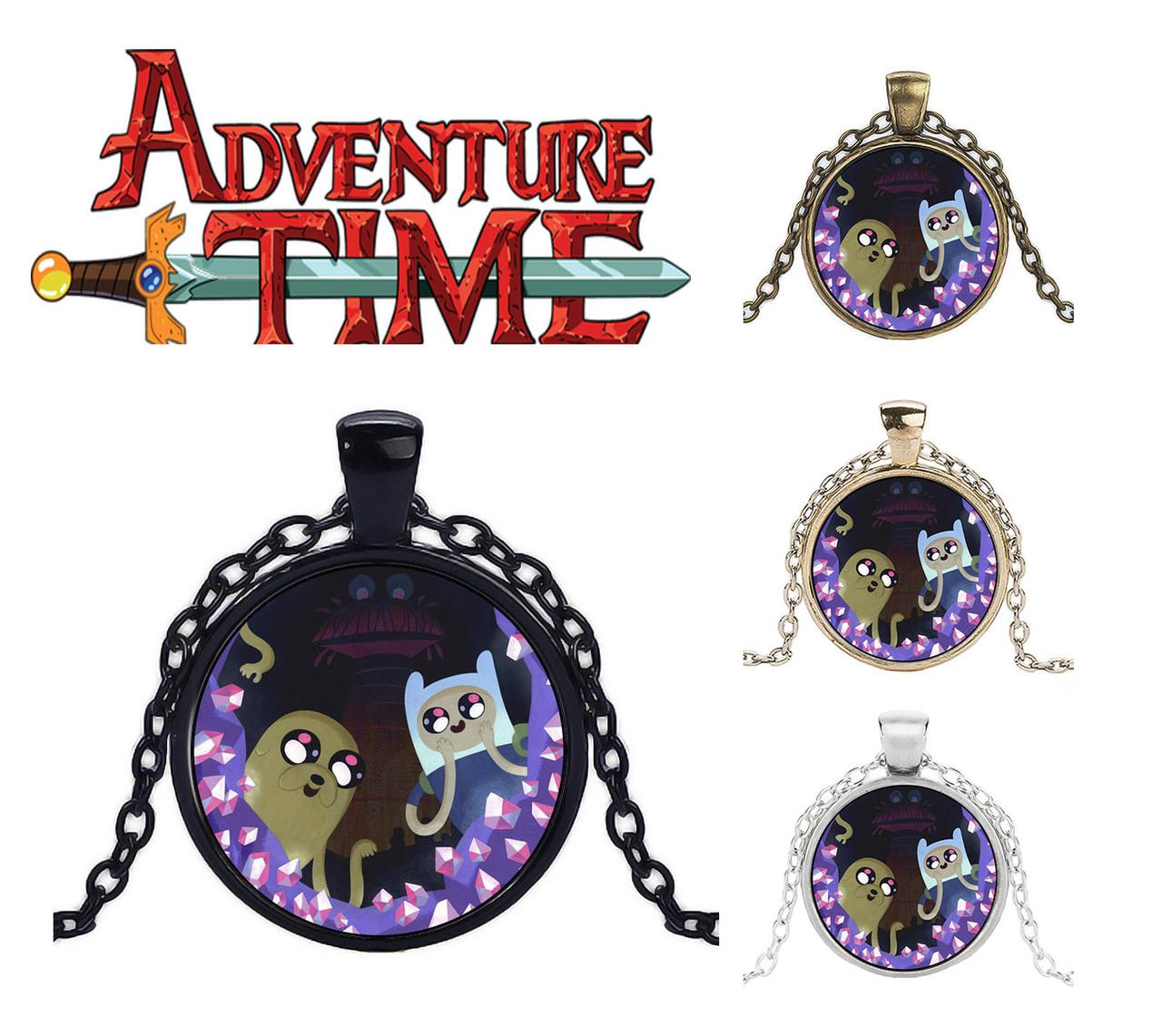 Кулон Adventure time Время приключений с кристалликами