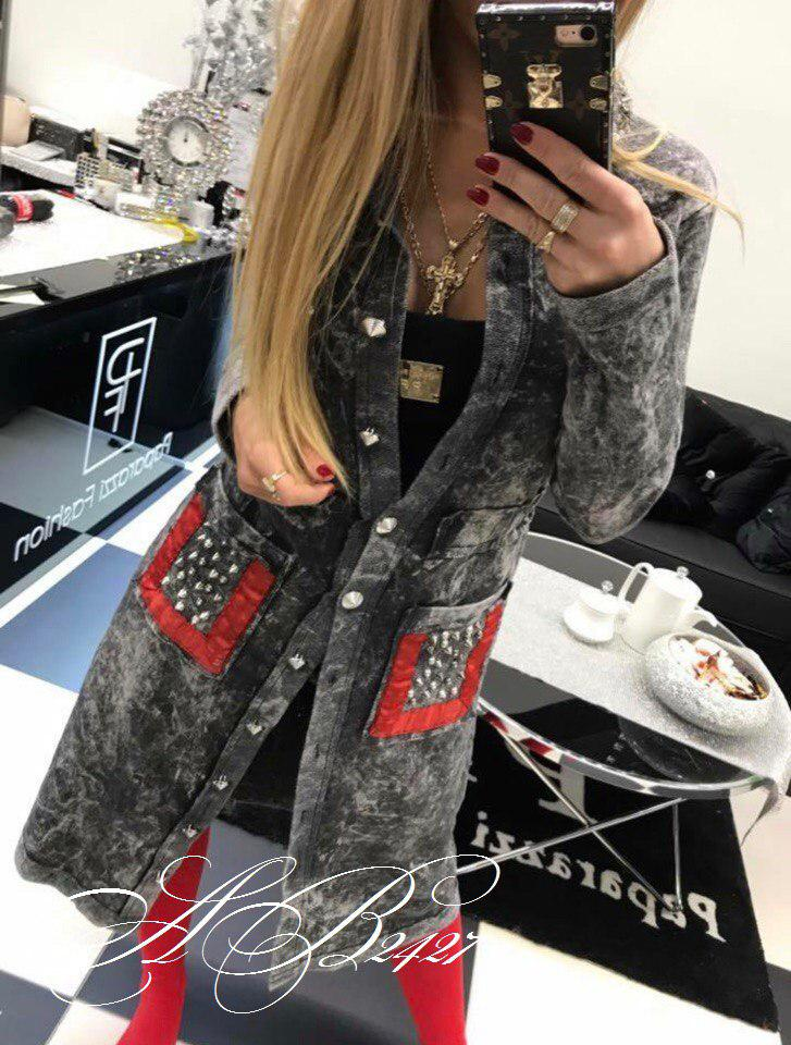 Женский джинсовый Турецкий кардиган пальто