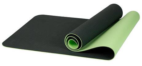 Килимок для йоги «LiveUp» LS3237-06g TPE YOGA MAT 1730х610х6мм, фото 3