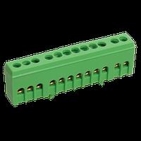 Шина PE земля в корп изол на DIN-рейку ШНИ-6х9-7-К-Зеленый