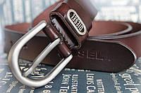 Женский коричневый ремень в джинсы Diesel