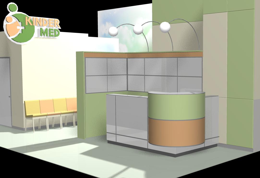 Дизайн рецепшена  - Торговая мебель. Производство. Проектирование. в Киеве