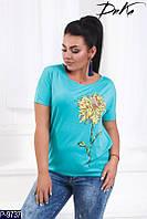 Батальная футболка с цветком