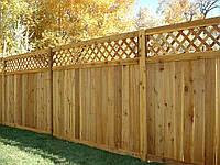 Деревянный забор с решеткой LNK, фото 1