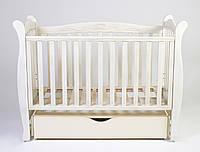 Детская кроватка Верес соня ЛД15 120*60 маятник с ящиком дуб молочный патина