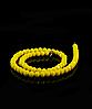 Бусы из хрусталя 44см, желтые матовые 8мм