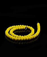 Бусы из хрусталя 44см, желтые матовые 8мм, фото 1