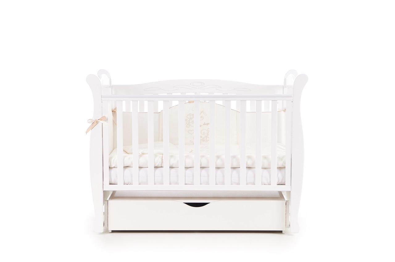 Детская кроватка Верес соня ЛД15 120*60 маятник с ящиком белая