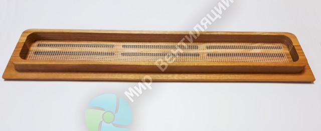 Деревянная вентиляционная решетка в подоконник