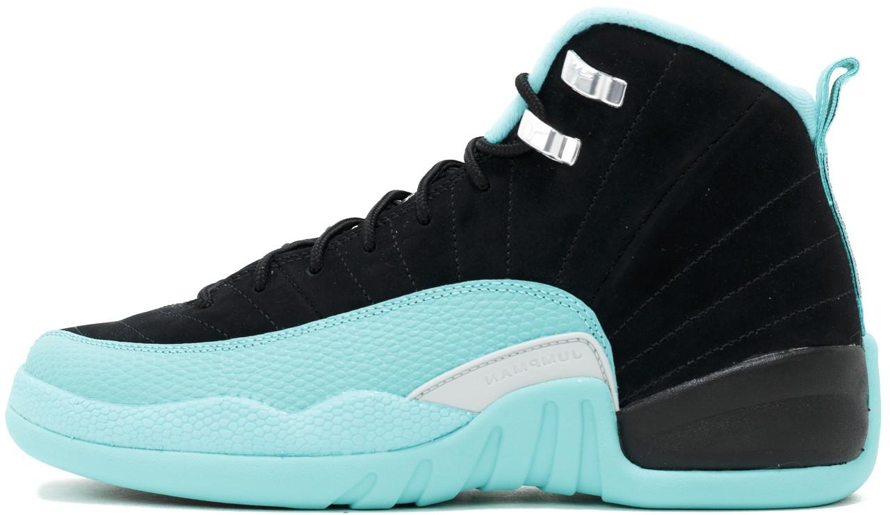 899625703402 Баскетбольные Кроссовки Nike Air Jordan 12 Retro Black Найк Аир Джордан 12  Черные — в Категории