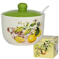 Сахарница с ложкой 450мл. 'Лимон' 2242-7