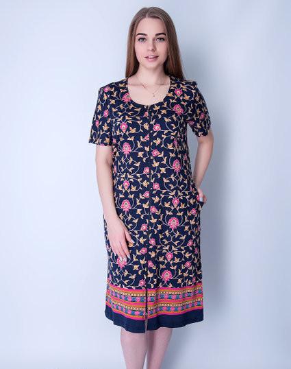 Квітчастий жіночий халат збільшеного розміру Wild Love
