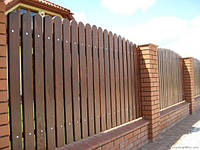 Современный забор из дерева LNK