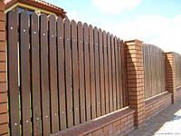 Современный забор из дерева
