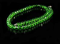 Бусы из хрусталя 45см, зеленые  8мм, фото 1