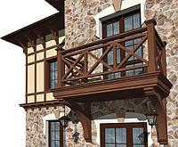 Деревянное ограждение балкона LNK