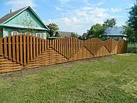 Дизайнерский деревянный забор