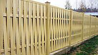 Горизонтальный плетенный деревянный забор LNK