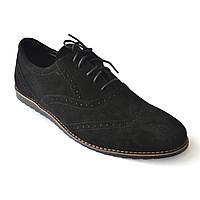Легкие броги туфли мужские замш Rosso Avangard Breakage VEL черные, фото 1