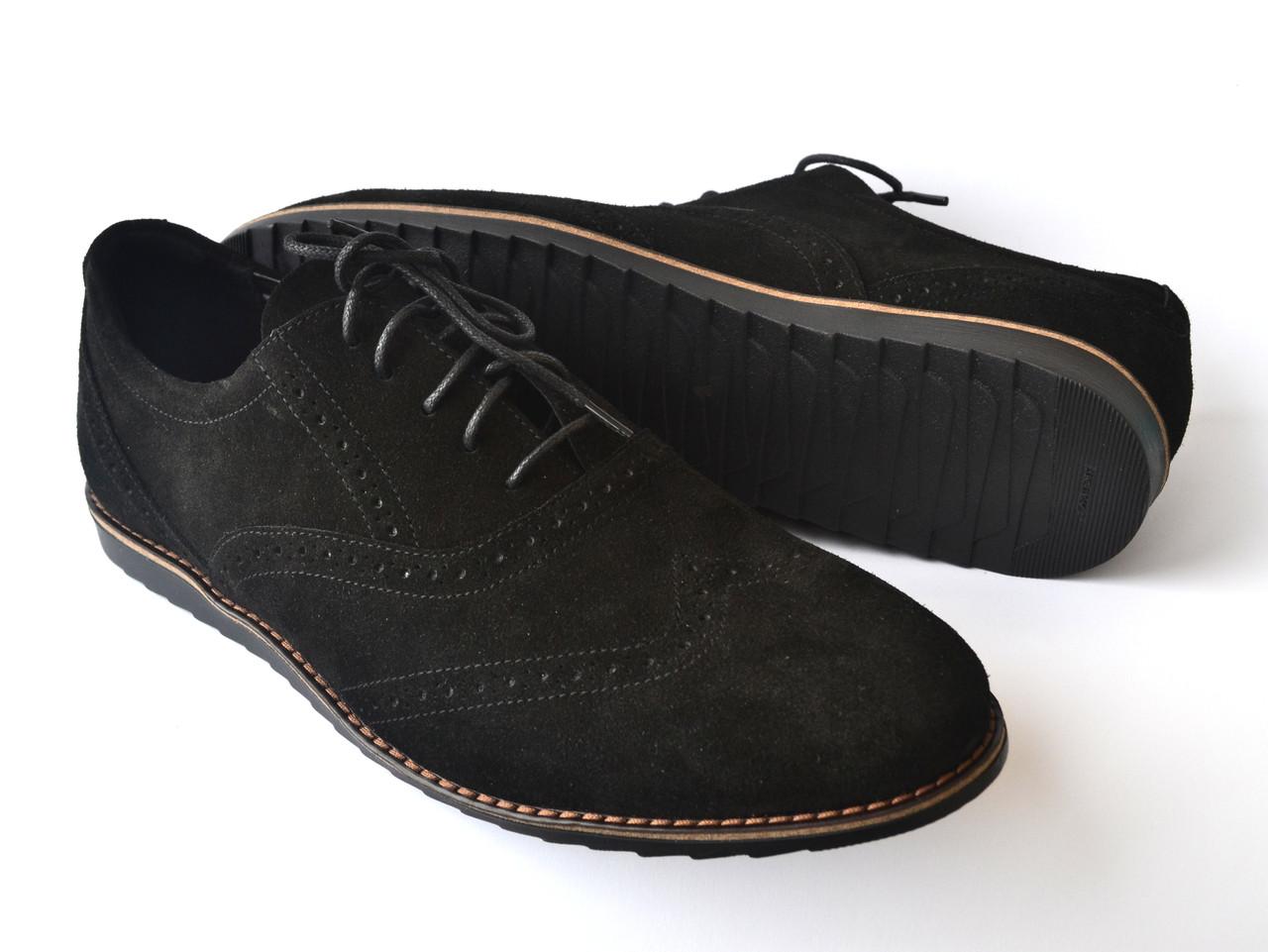 Большой размер легкие броги туфли мужские замш Rosso Avangard BS Breakage VEL черные