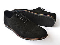 Большой размер легкие броги туфли мужские замш Rosso Avangard BS Breakage VEL черные, фото 1