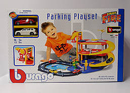Паркинг Гараж 3 уровня, 2 машинки 1:43 18-30025 BBURAGO Китай
