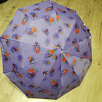 Зонт женский от дождя полуавтомат синий складной, фото 1