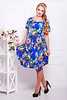Оригинальное женское платье свободного покроя с юбкой-тюльпаном с 56 по 62 размер, фото 1