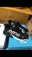 Мужские кроссовки Nike Air Max  Supreme черные -Текстиль,подошва пена р:40-45   Топ качество!