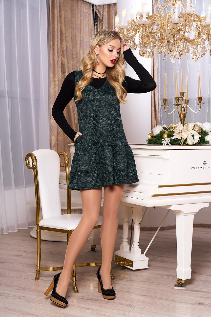 """Платье+гольф """"Фиби"""" (минт)"""