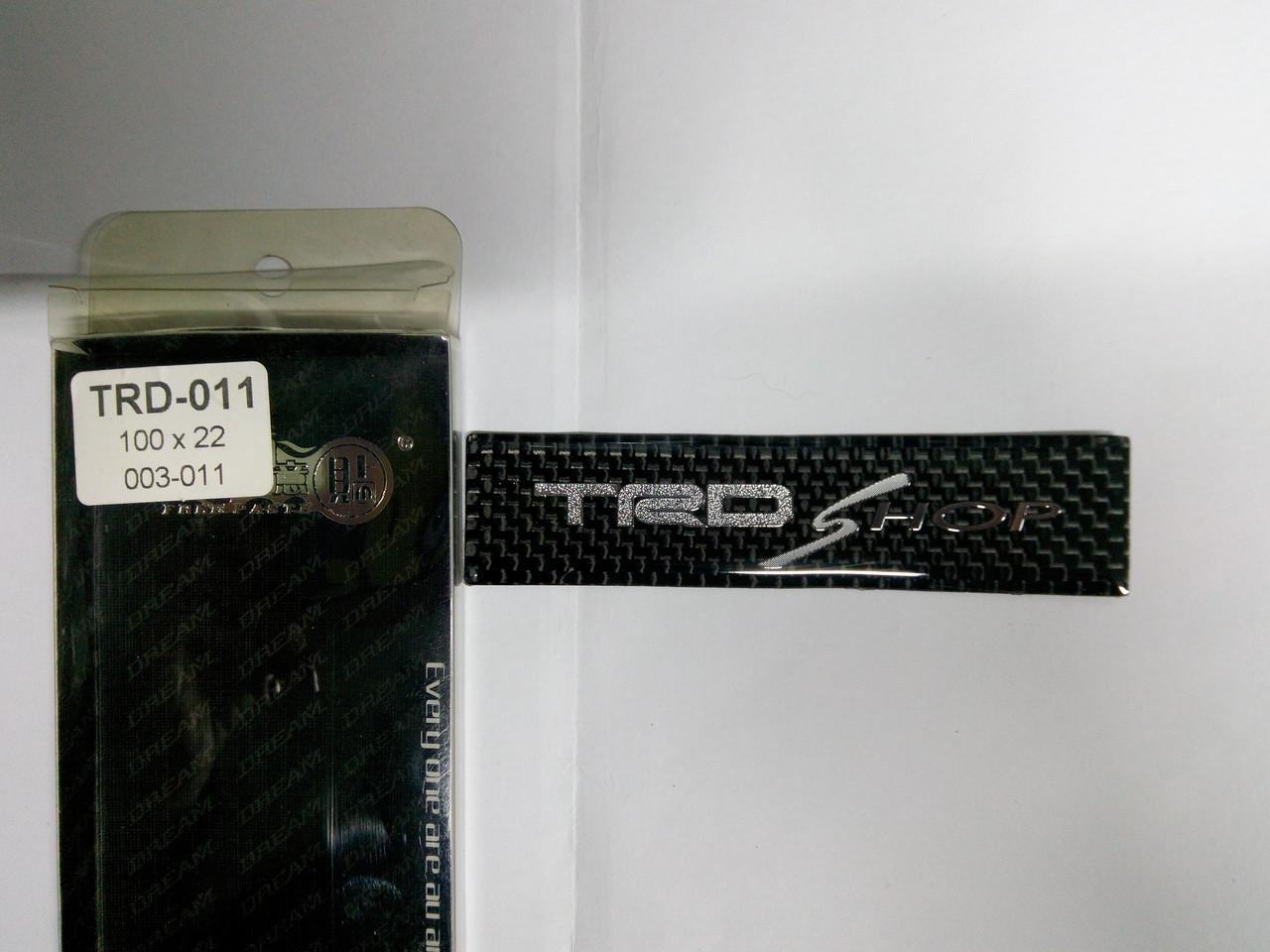 Силиконовая 3D наклейка TRD SHOP  100х22 мм