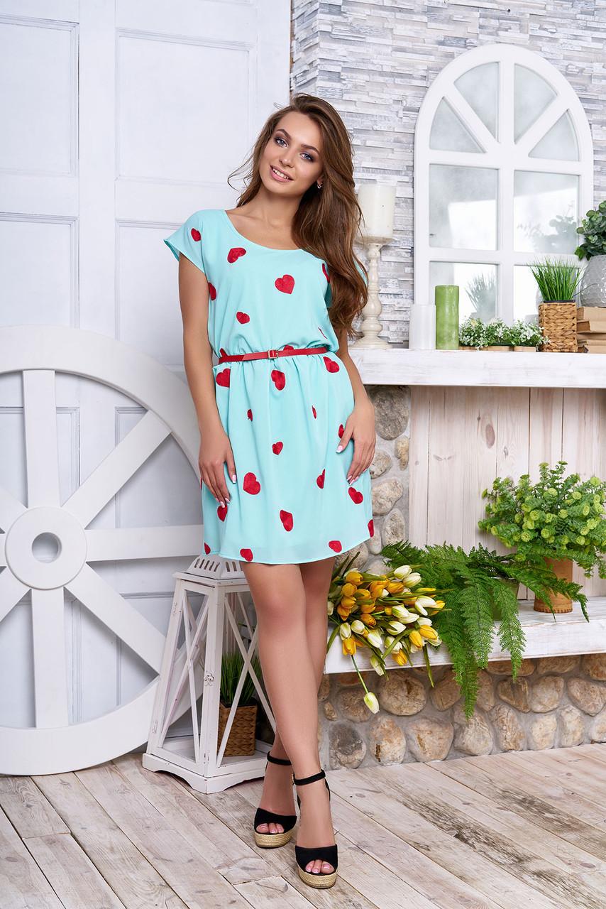 "Платье ""Тиффани"" (сердца-минт)"