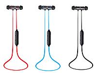 Стерео Блютуз (Bluetooth 4.2) наушник BINANNA 901 без лишних проводов с микрофоном На магнитах