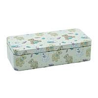 "Коробка железная мишки 100 г ""Тедди"" ( коробка для хранения )"