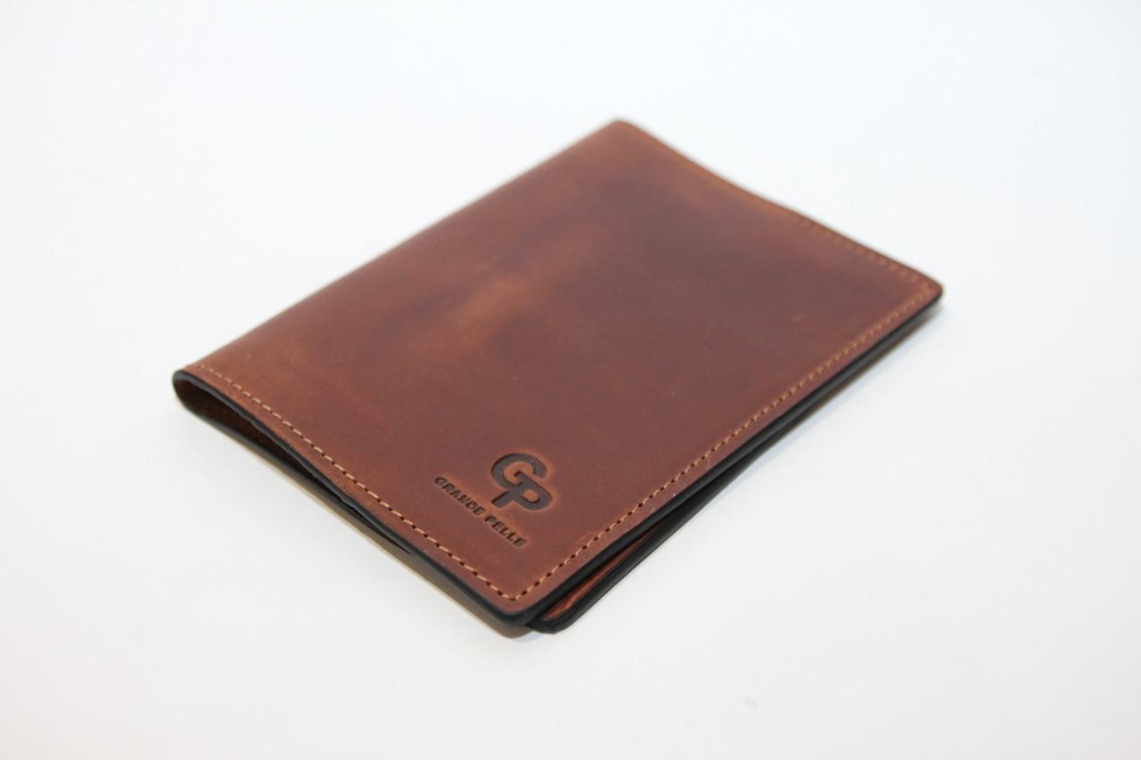 Шкіряна обкладинка для паспорта.(10389)