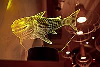 "3d светильник ""Акула"" 3DTOYSLAMP, фото 1"
