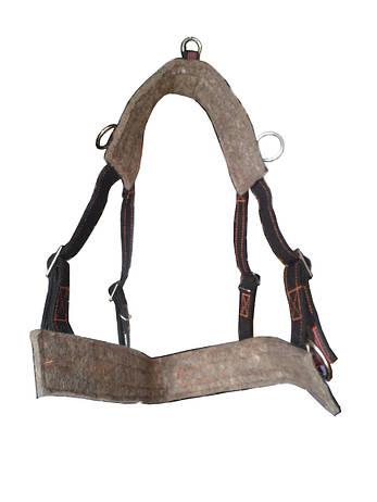 Шлея (шорка) для лошади регулируемая на войлоке, фото 2