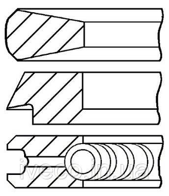 2991522 800059110000 KS Кольца поршня (F2BE) (D=115мм) Euro 2/3 Ивеко Стралис Курсор 8 Iveco Stralis