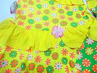 Платье детское с яркого кулира, отделка -рюши с жатки. 28р(рост86-98см) =48грн